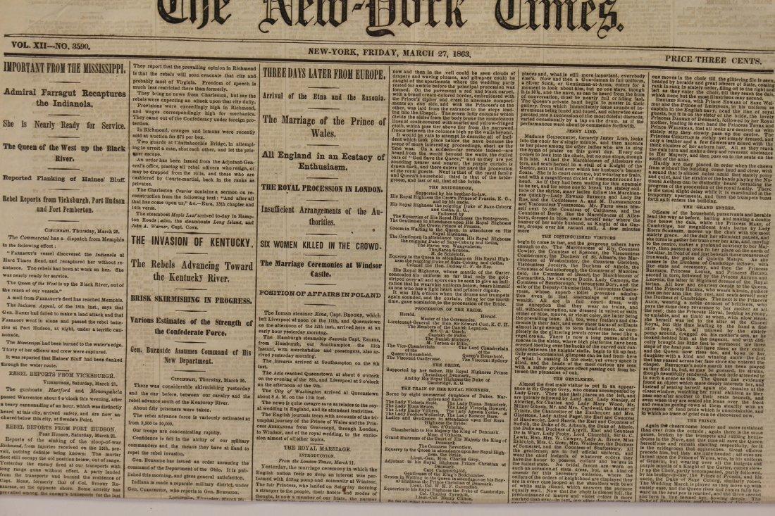 Civil War newspaper: The New York Times, March 27, 1863 - 2