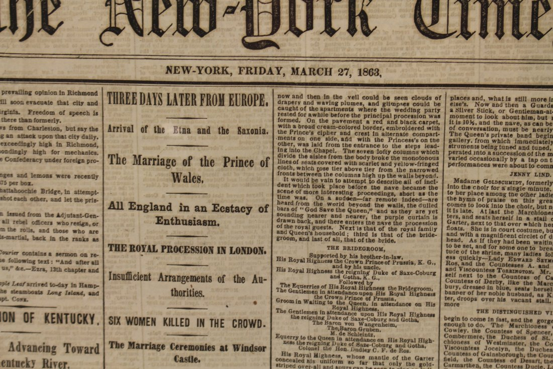 Civil War newspaper: The New York Times, March 27, 1863 - 3
