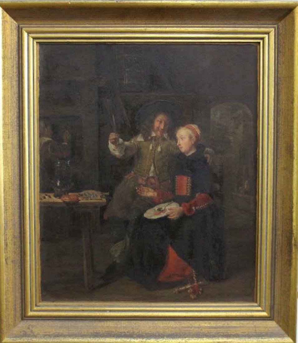 19th C. European School Interior Scene