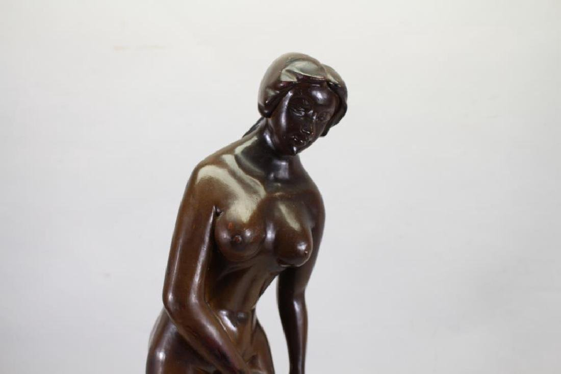Large Carved Wooden Nude Woman Sculpture - 2