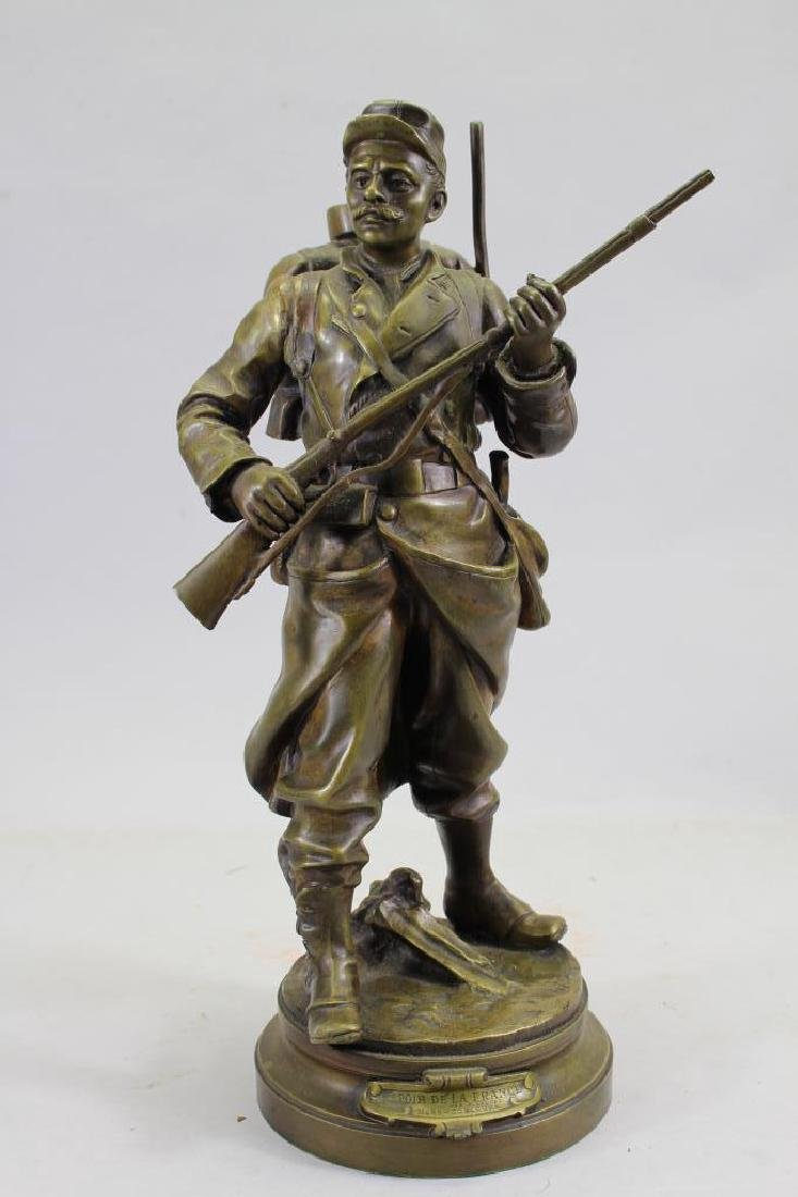 """Espoir De La France"" Signed Bronze Figure"