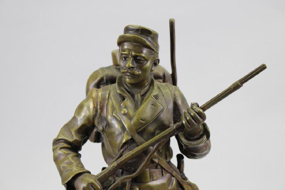 """Espoir De La France"" Signed Bronze Figure - 2"