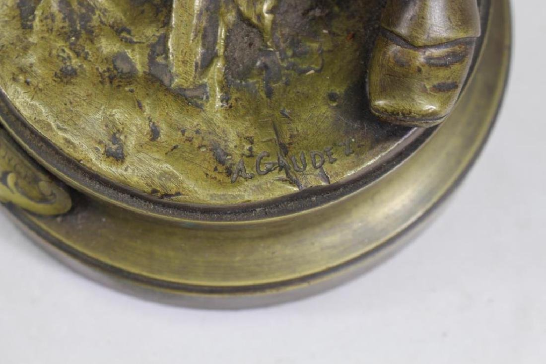 """Espoir De La France"" Signed Bronze Figure - 4"