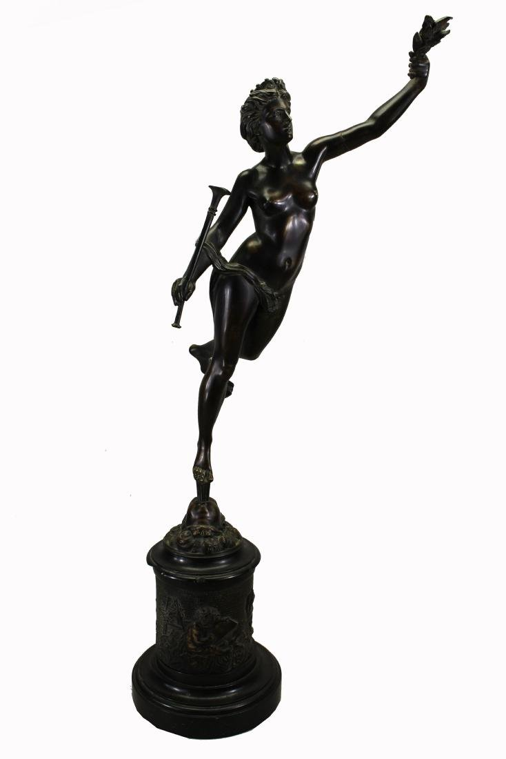 Signed, Bronze Mercury After Giambologna