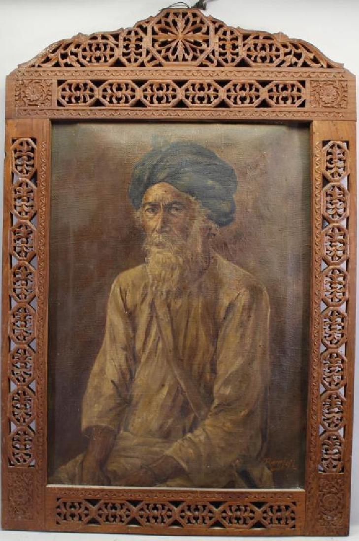 Antique Orientalist Portrait of Moorish Man, Signd