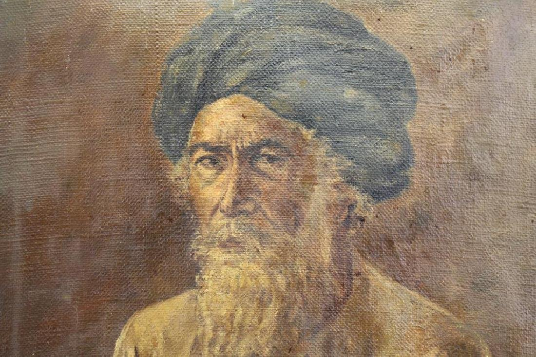 Antique Orientalist Portrait of Moorish Man, Signd - 3