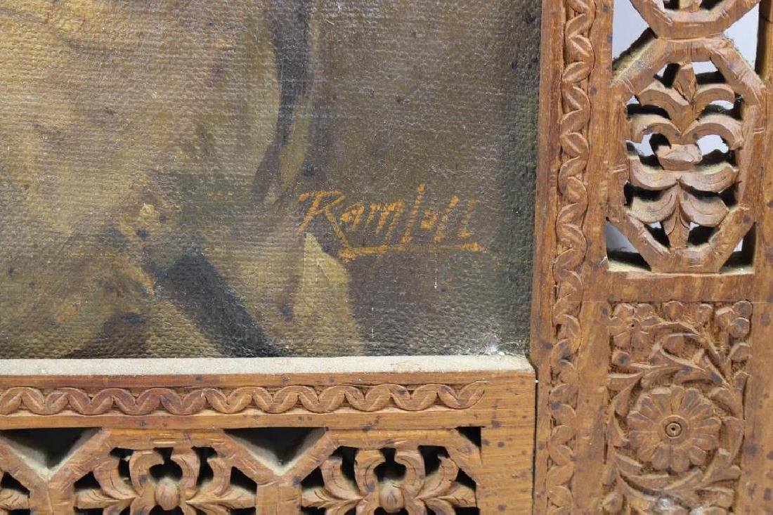 Antique Orientalist Portrait of Moorish Man, Signd - 4