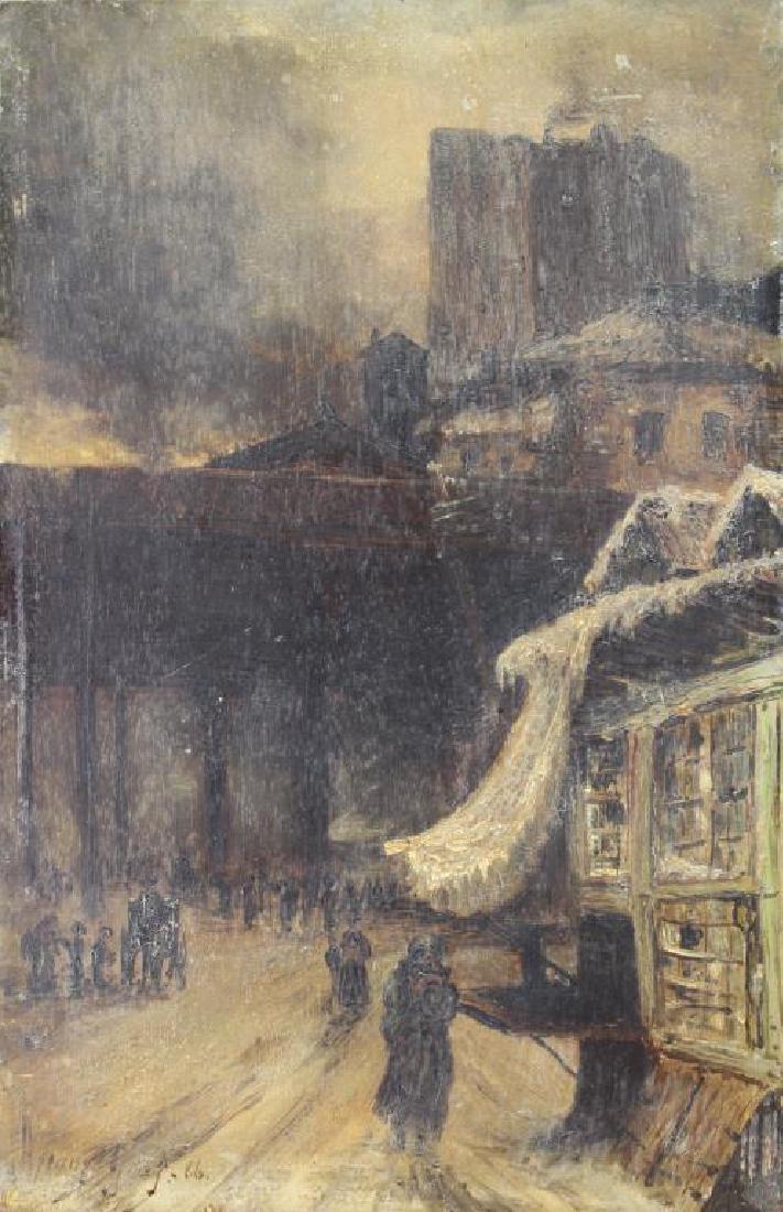 Signed 19th C. European Street Scene