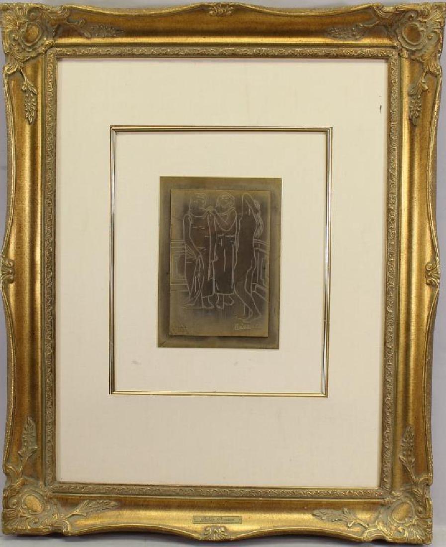 279/300 After Picasso, Framed Copper Plaque