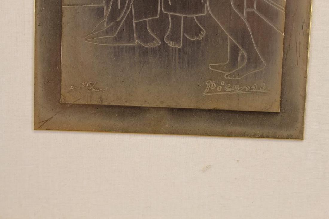 279/300 After Picasso, Framed Copper Plaque - 3