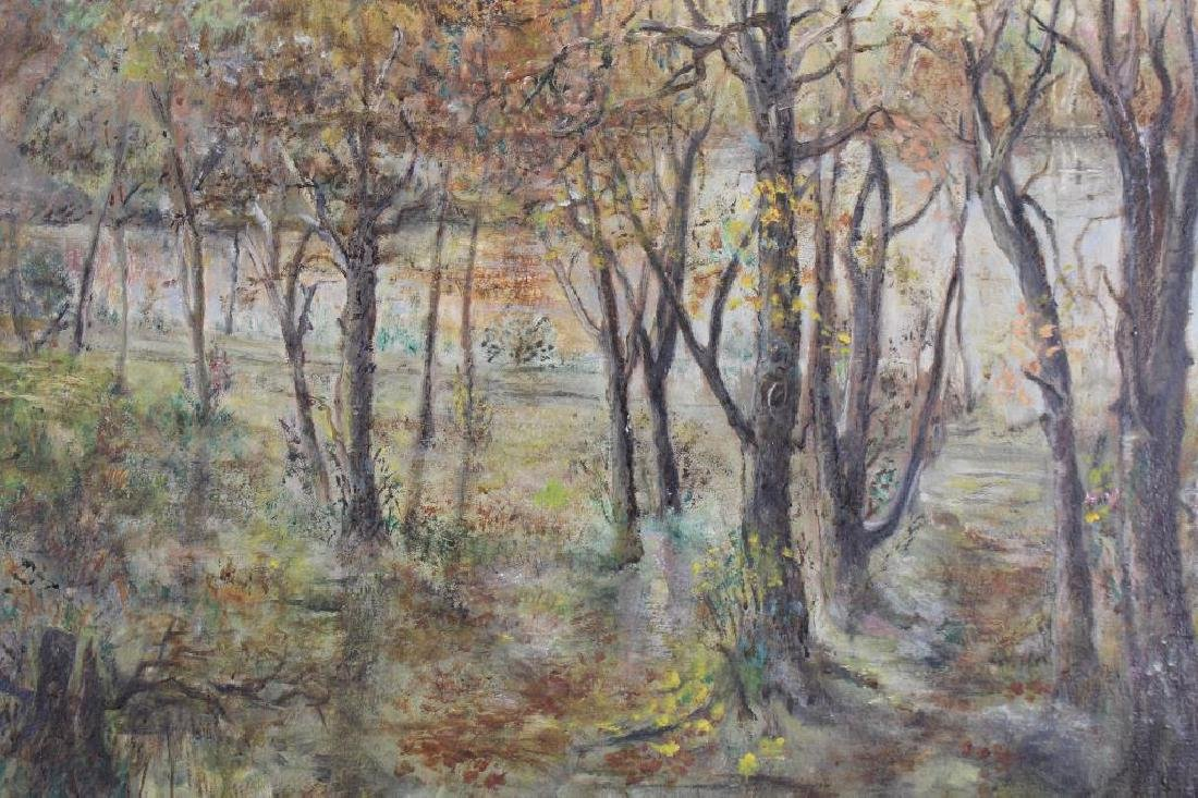 Signed, American School Ptg of Wooded Landscape - 2