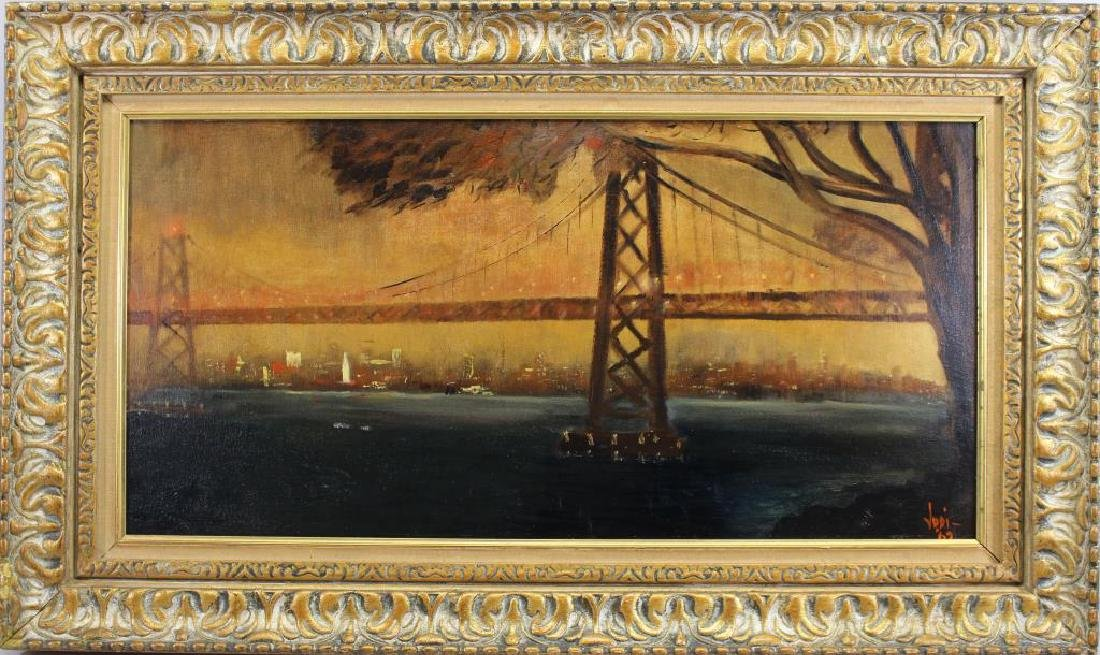 1965 Painting of Golden Gate Bridge, Signed