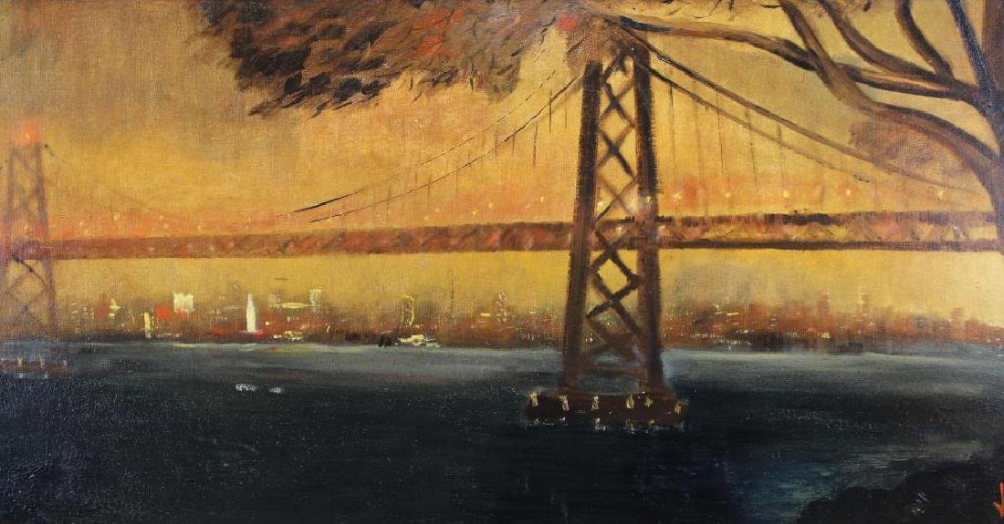 1965 Painting of Golden Gate Bridge, Signed - 2