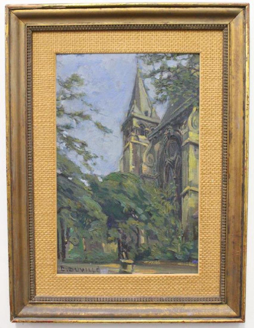 D. Duville, Signed Painting of a Mission
