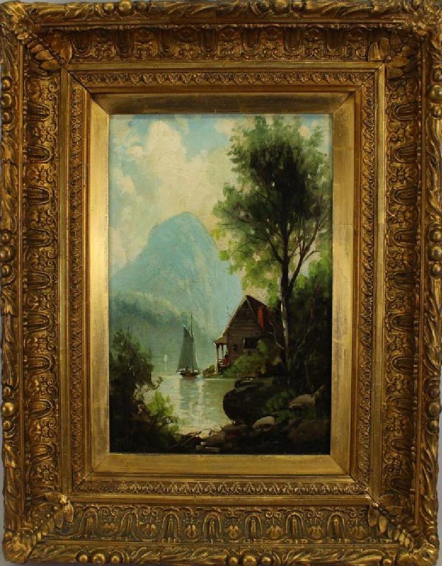 Hudson River School, Signed 19th C. Landscape