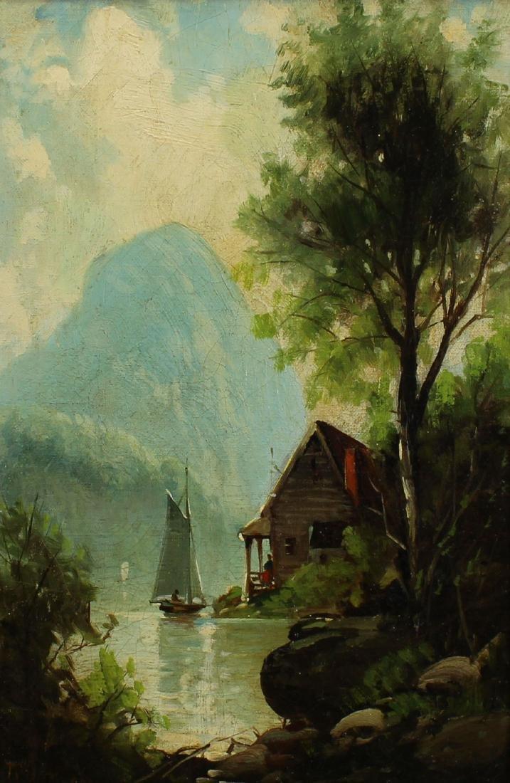 Hudson River School, Signed 19th C. Landscape - 2
