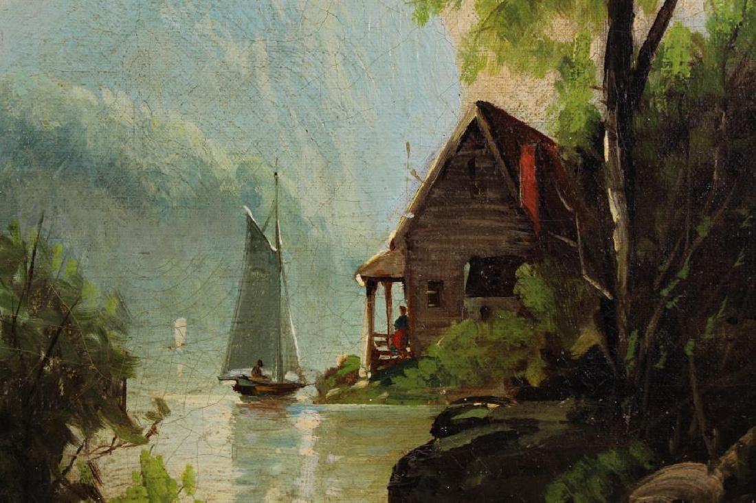 Hudson River School, Signed 19th C. Landscape - 3
