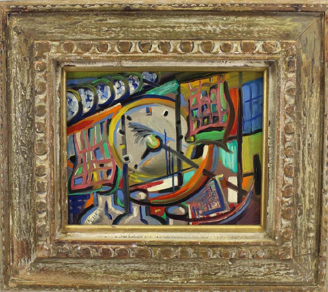 Kusik, Signed 20th C. Abstract Russian School Ptg