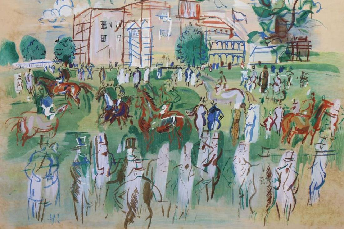 After Dufy, Mixed Media over Print. Racetrack - 2