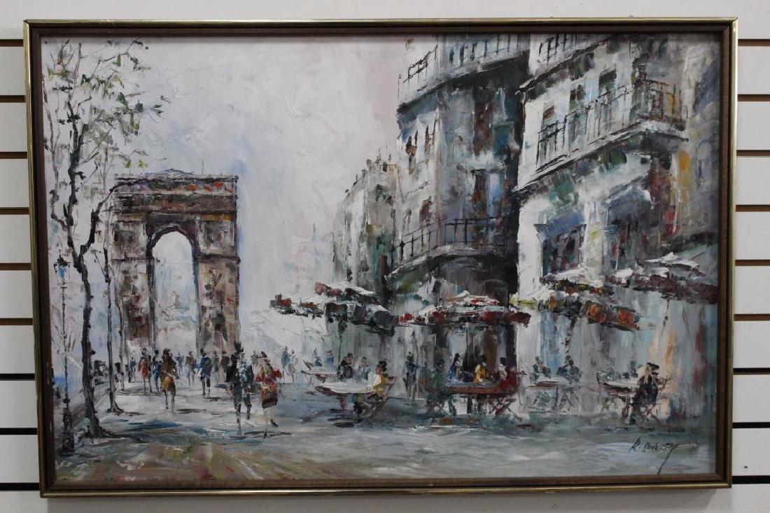 Randall Davey - Paris Street Scene
