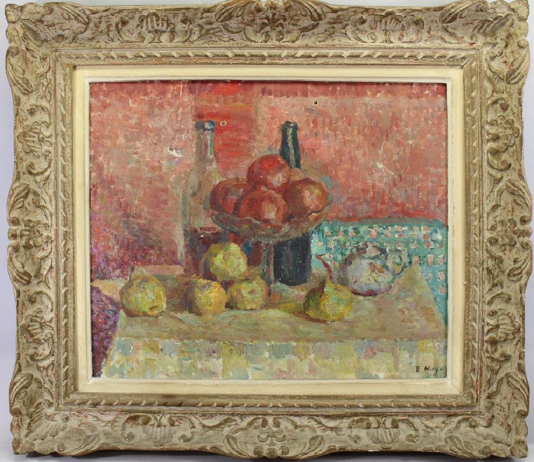 Signed, French School Still Life of Fruit