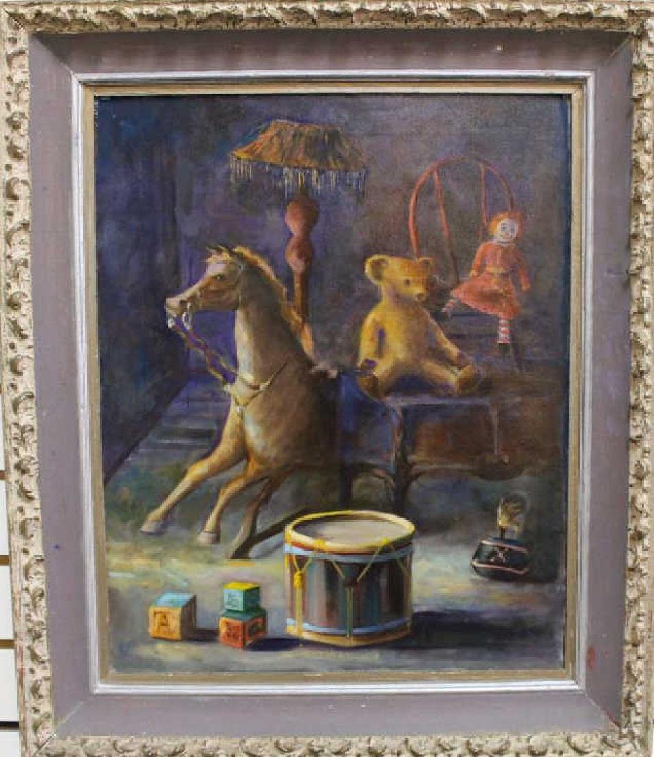Signed, 20th C. Painting of a Child's Playroom - 2