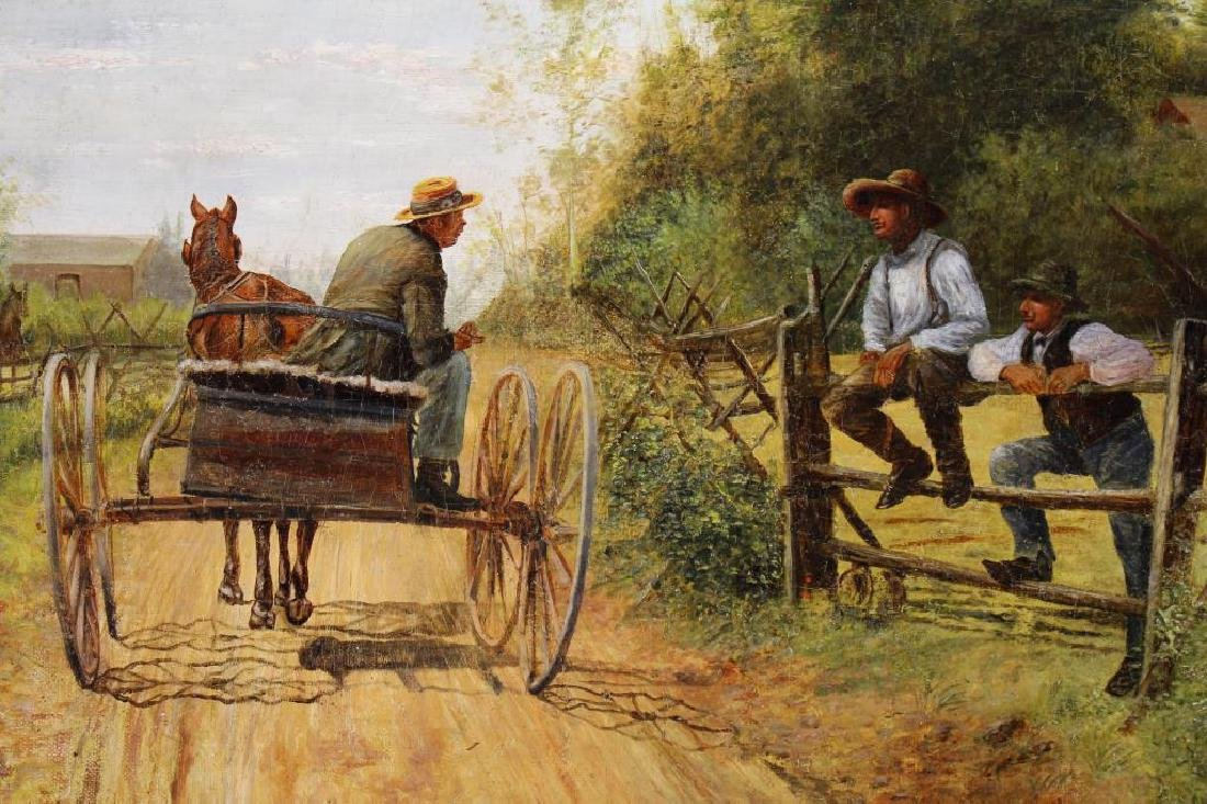 """Johan Muller (19th C) """"Passing on the Latest News"""" - 2"""