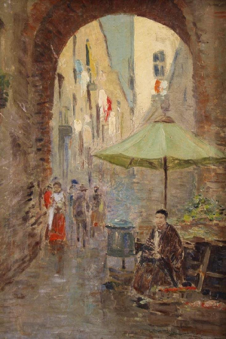 Signed Italian Street Scene, Ex Christie's - 2