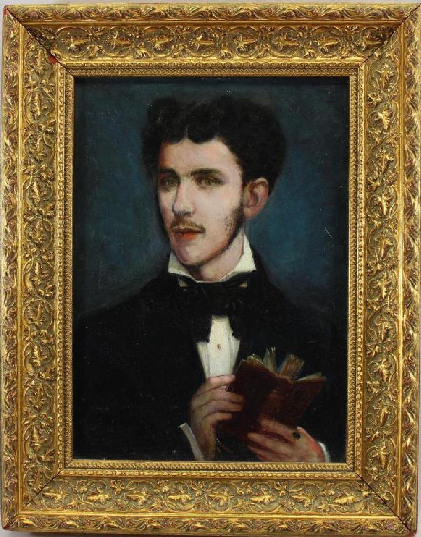 Signed/Dated 19th C. French School Portrait