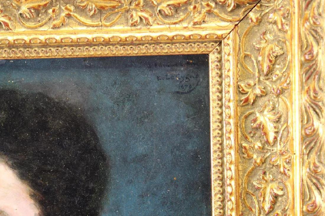 Signed/Dated 19th C. French School Portrait - 3