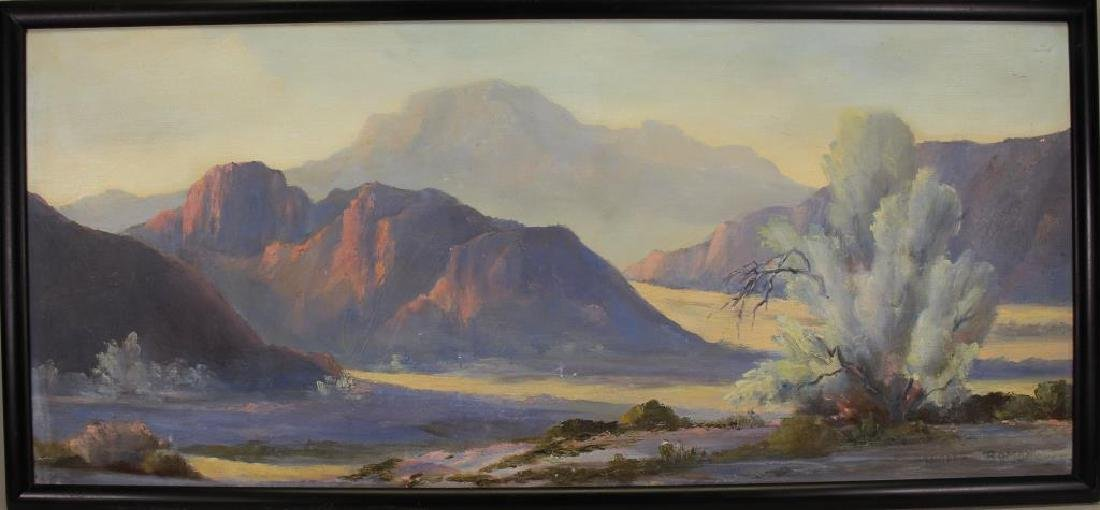 Signed, 20th C. Southwestern American Landscape