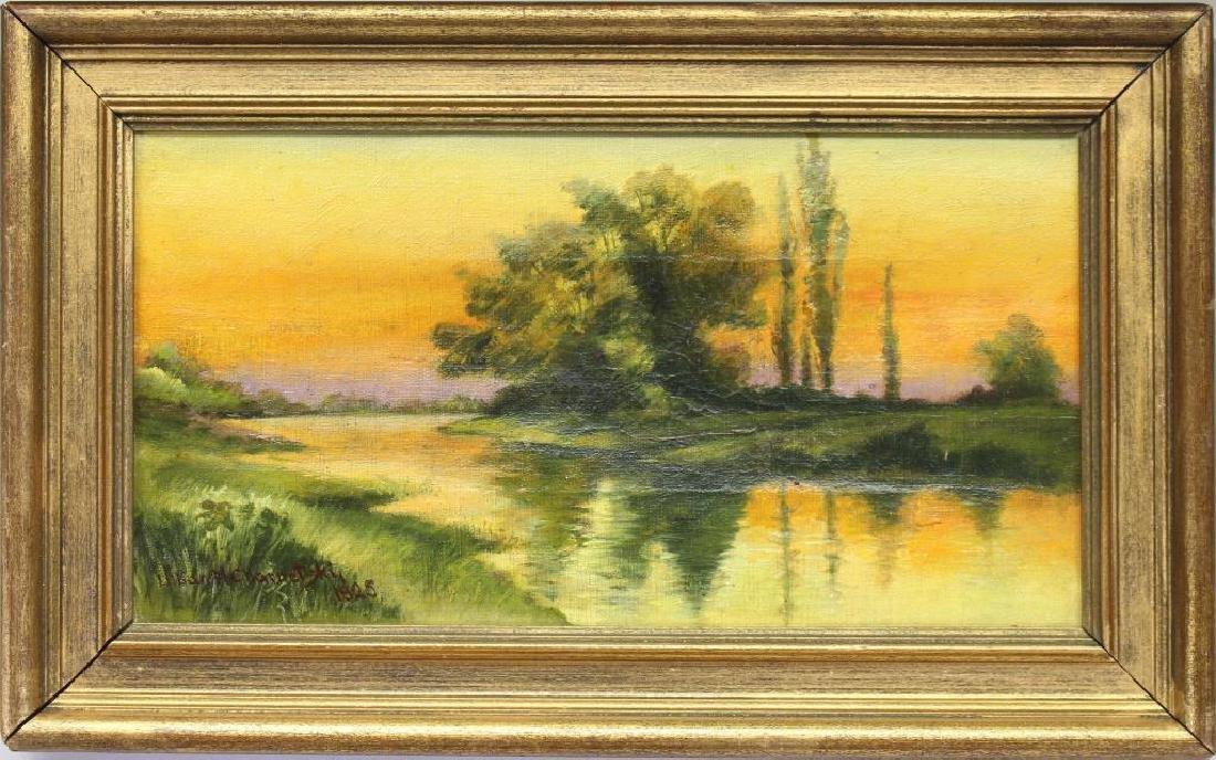 Charnetski, Signed 19th C. River Landscape