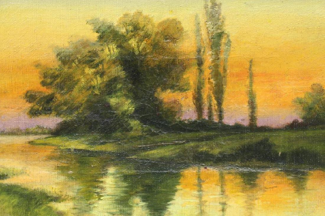 Charnetski, Signed 19th C. River Landscape - 2