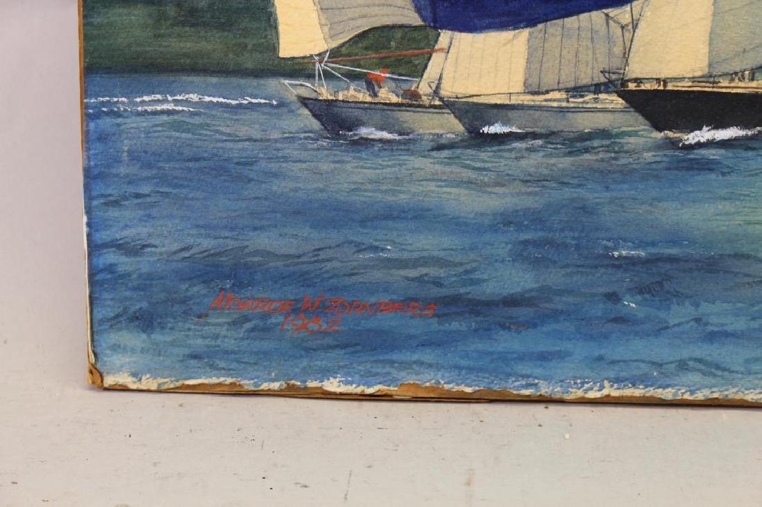 American School, '82 Yacht Racing Scene. Signed - 3
