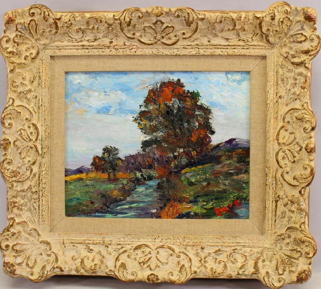 Signed Impressionist Fall Landscape, American