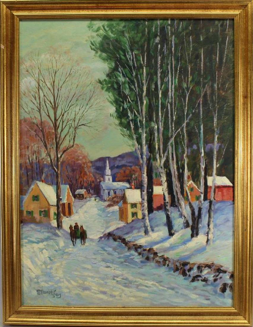Levy, Signed New England Winter Landscape