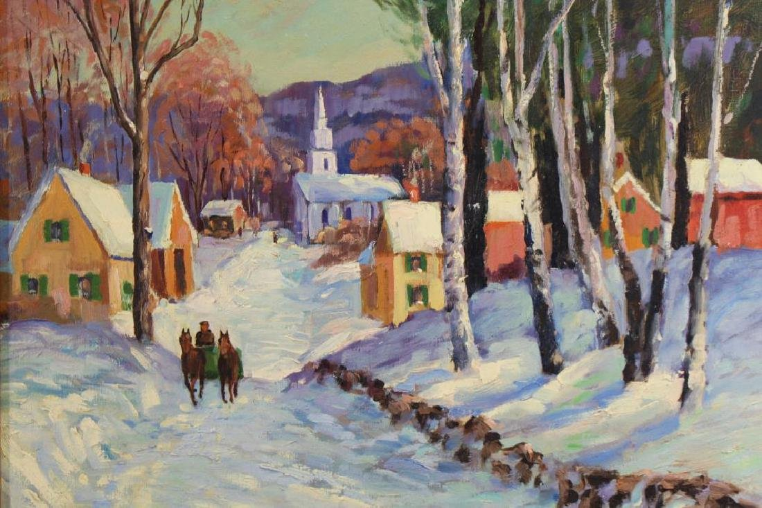 Levy, Signed New England Winter Landscape - 2