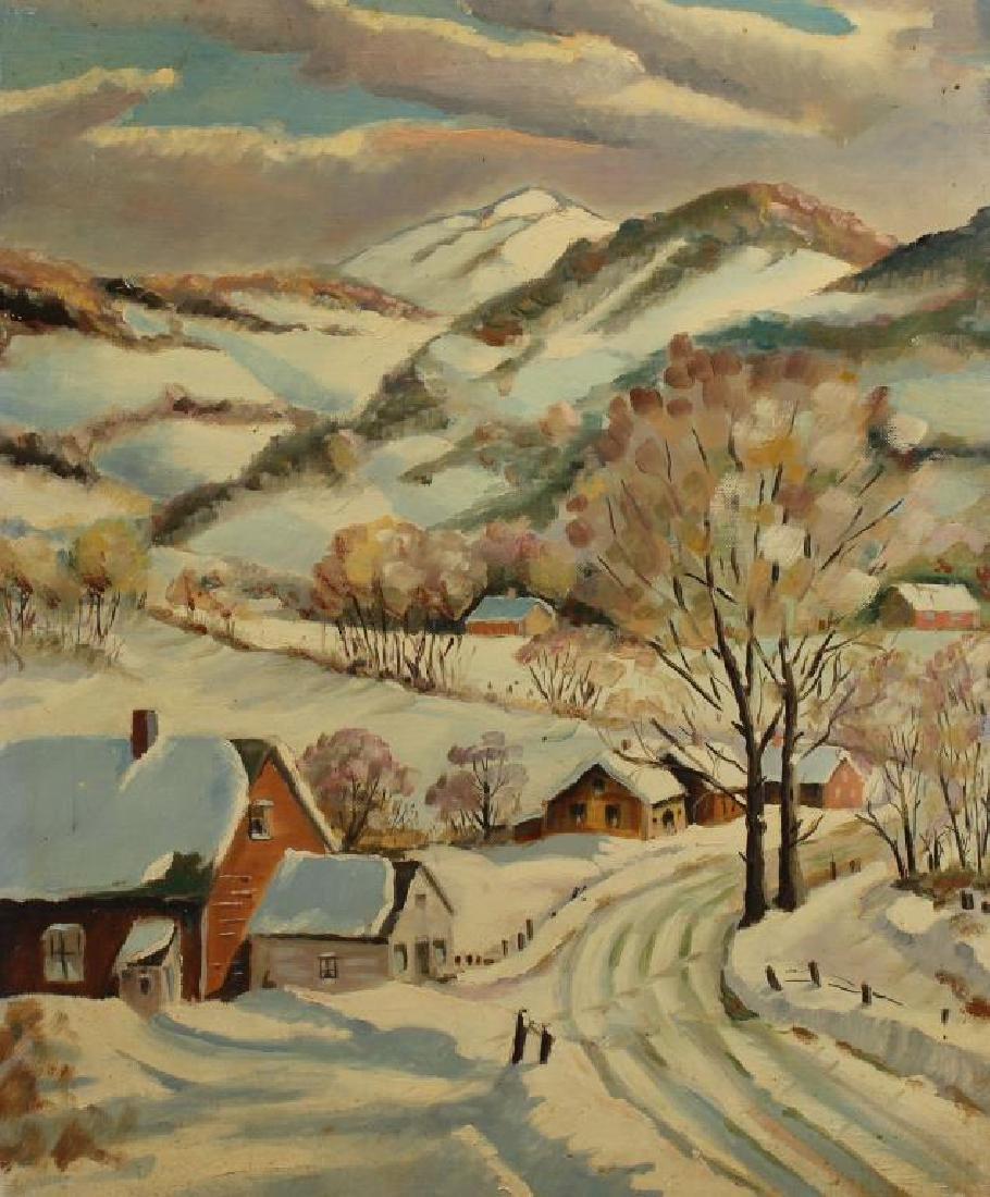American School, New England Winter Landscape
