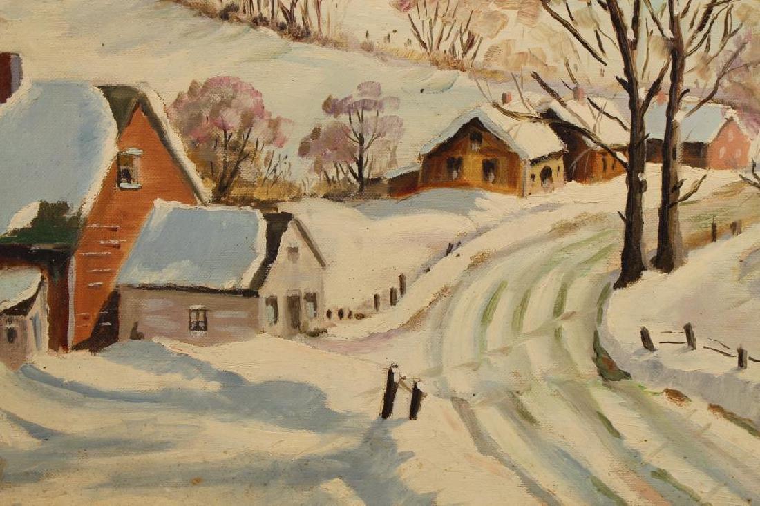 American School, New England Winter Landscape - 2