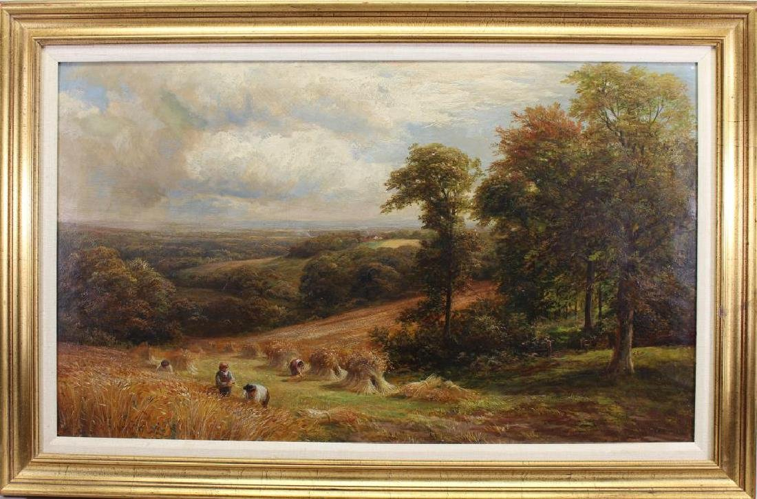 "1888 George Turner ""Harvesting in Derbyshire"""