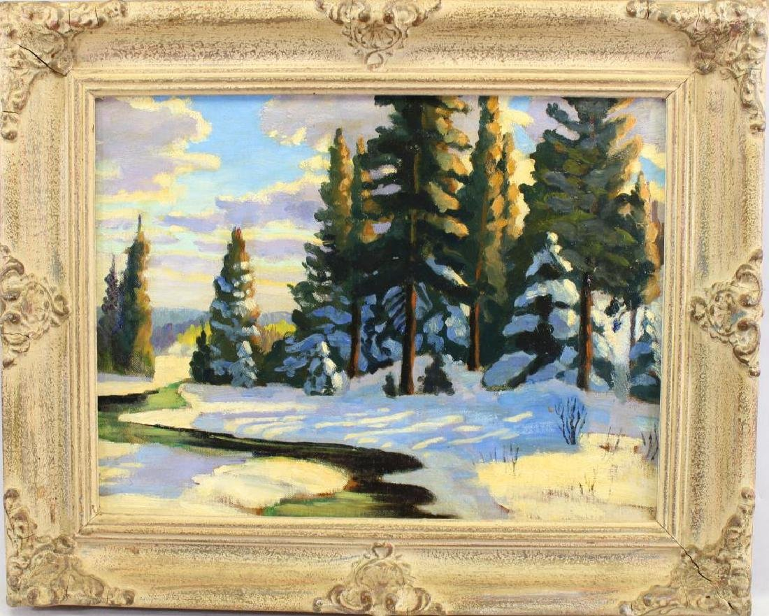 20th C. Canadian Winter Landscape