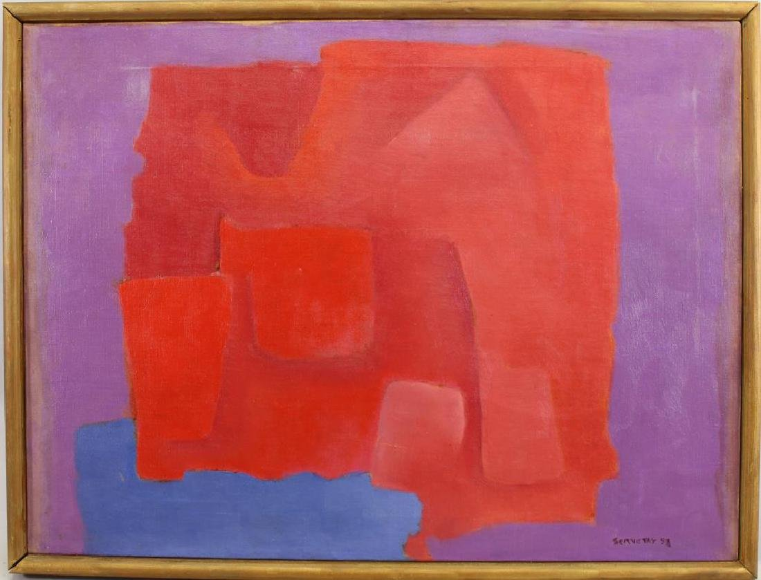 1953 Signed Abstract Painting