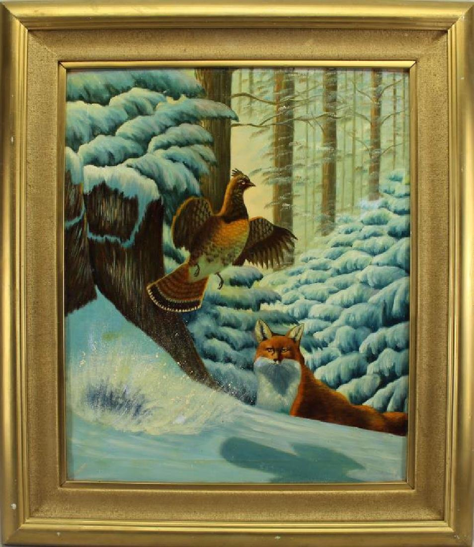 American School, Fox Hunting Game in Winter