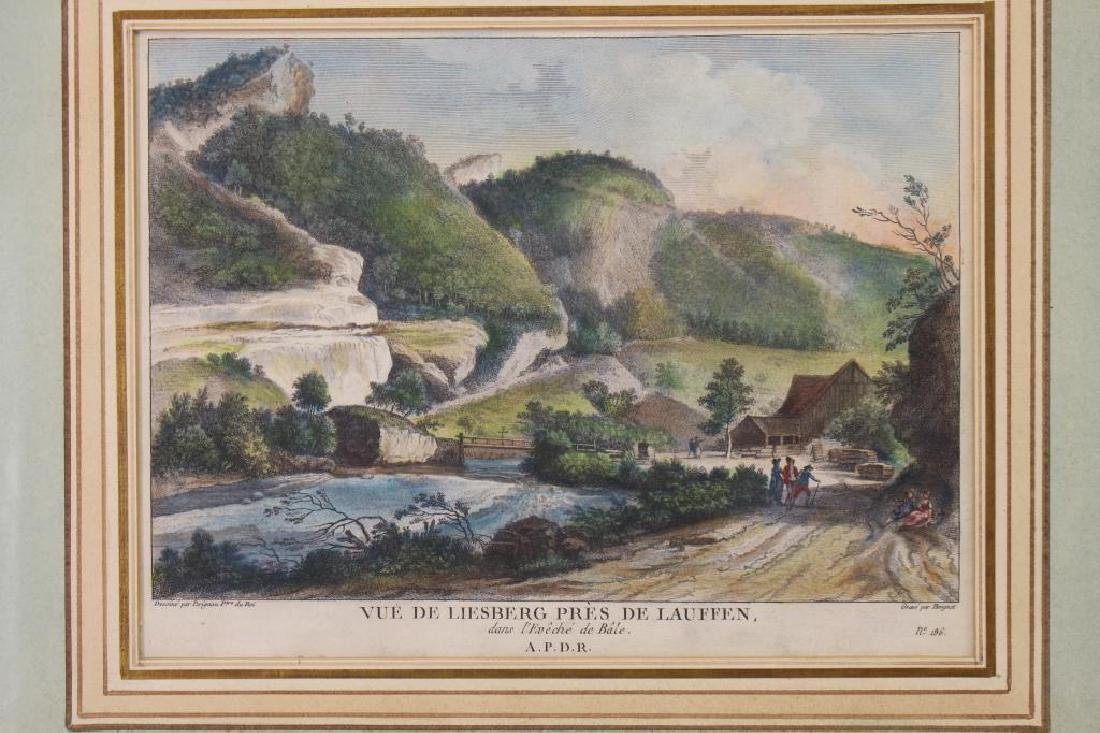 (2) Hand Colored Engravings of French Scenes - 2