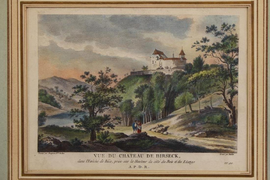 (2) Hand Colored Engravings of French Scenes - 3