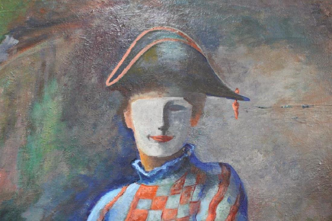 Large Vintage Portrait of a Jester - 3