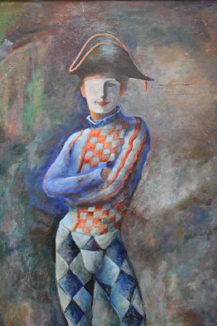 Large Vintage Portrait of a Jester - 4