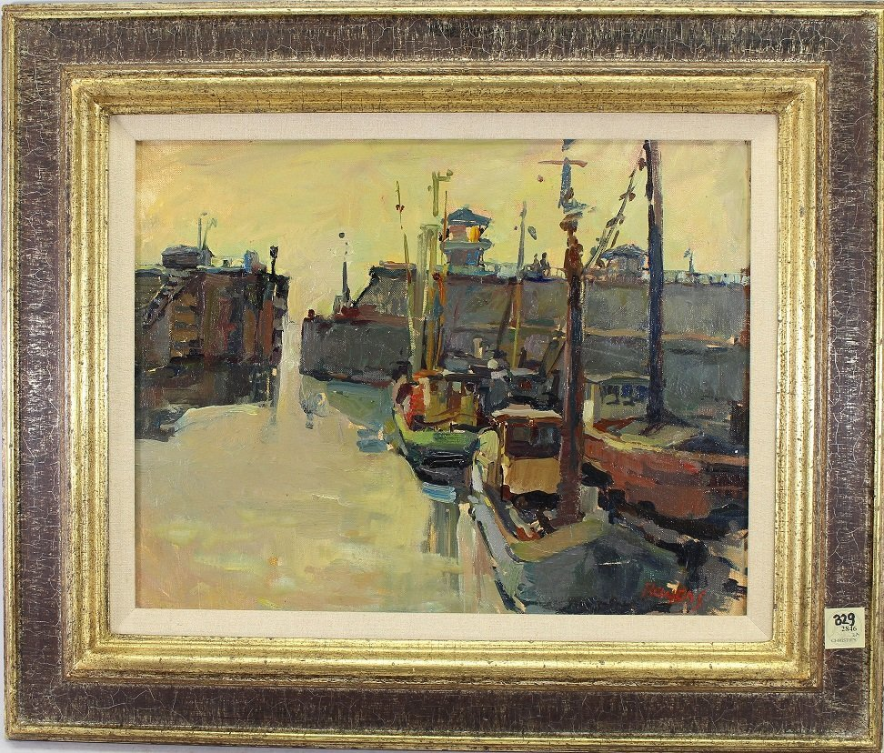 Signed, European School Canal Scene- Ex Christie's