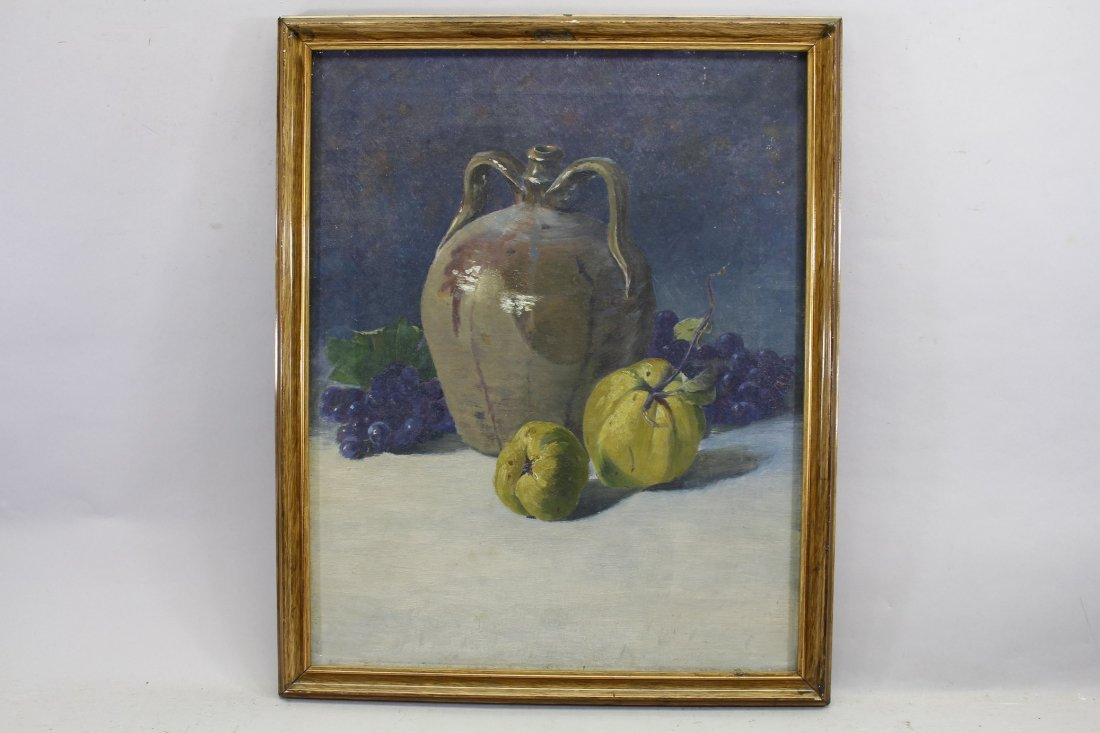Antique Still Life, Grapes & Pears