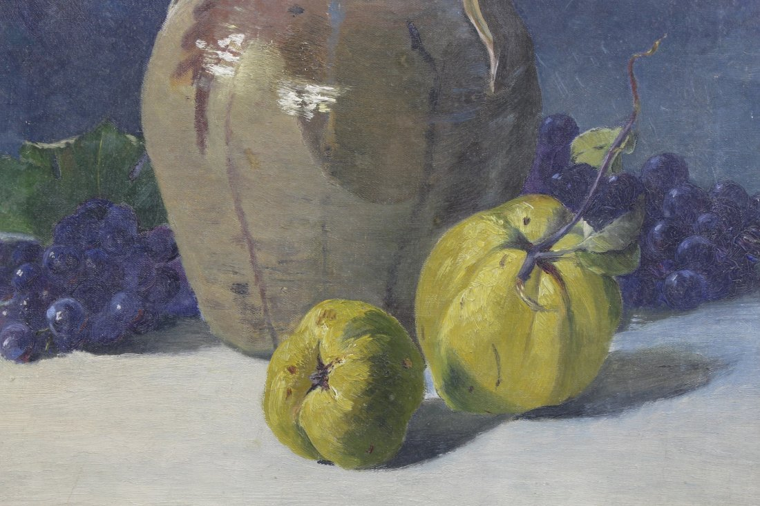 Antique Still Life, Grapes & Pears - 2